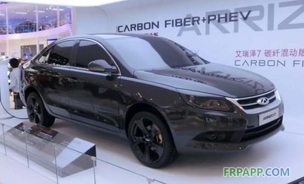 中国奇瑞cfrp新能源汽车案例 碳纤维复合材料 cfrp 在 高清图片