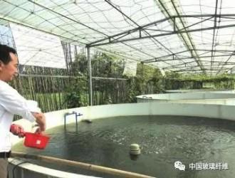 智能化玻璃钢池养鱼 效益高:一口玻璃钢池的产量相当于4-6亩鱼塘